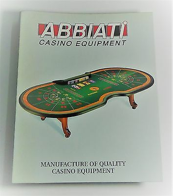 Casino Equipment Katalog Abbiati Super Teil wie NEU