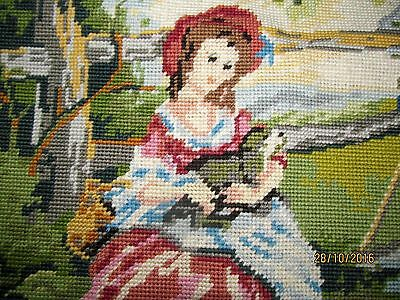 French Old Needle Point Gainsborough Adorable Upholstery Project