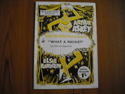 PIER THEATRE, BOURNEMOUTH - ARTHUR ASKEY in WHAT A RACKET - 1960's