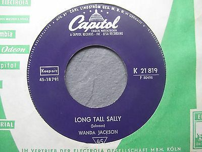 "7"" WANDA JACKSON  Long Tall Sally  CAPITOL 21 819"