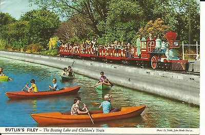 Butlins Filey The Boating Lake & Childrens Train John Hinde Ltd 3F3 Pc