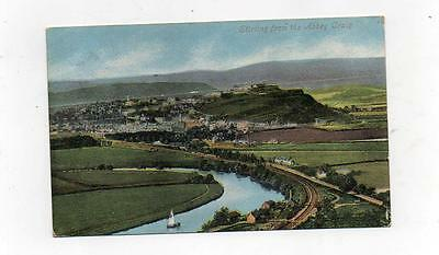 (A1) Valentine's Postcard Sterling From The Abbey Craig 1904 Edvii Postmark