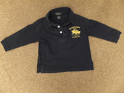 Ralph Lauren polo boys navy blue rugby shirt Age 2 y