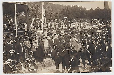 Concours Musical (Parade by Bandstand) in 1911:~Old Albert Smith, Real Photo PPC