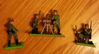 Britains deetail German WW2 Mortar and Soldiers