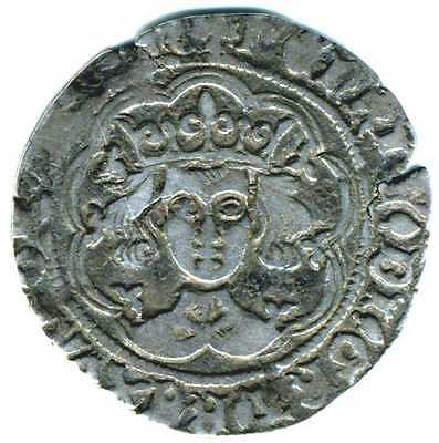 XS- HENRY VI Silver Groat CALAIS Annulets only rev  1422-1427