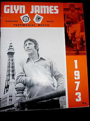 Blackpool FC: 1973 Glyn James Testimonial brochure. Excellent condition