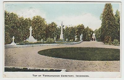 Tomnahurich Cemetery, Inverness, in ~1903 Vintage F.G. Fraser PPC, Used 1905.
