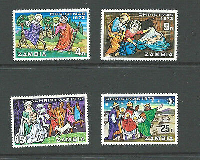 ZAMBIA 1972 Commemoratives - CHRISTMAS  -  Set of 4  SG 181 /184  MNH