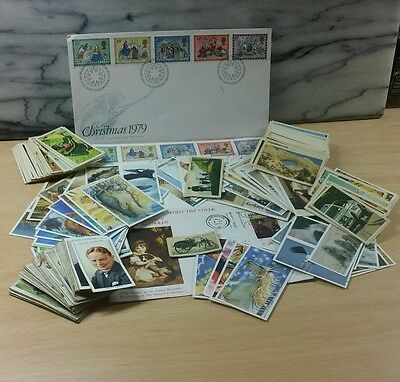 Lot of first day covers & vintage cigarette cards.