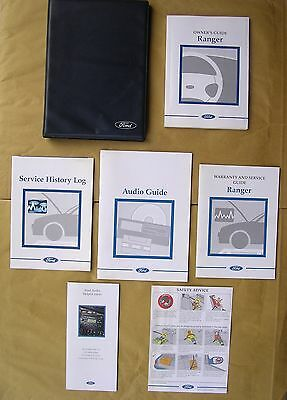 Ford Ranger Handbook / Manual, Service Book & Owner's Pack in Wallet