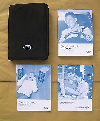 Ford Focus Handbook / Manual, Service Portfolio Book & Owner's Pack in Wallet