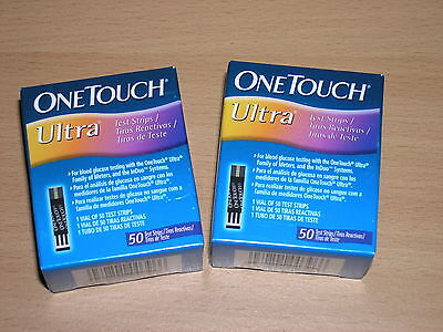100 One Touch Ultra Blood Glucose Test Strips