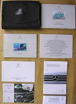 2003 Mercedes A Class Handbook / Manual, Service Book & Owner's Pack in Wallet