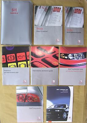 2003 Seat Ibiza Handbook / Manual and Owner's Pack in Wallet