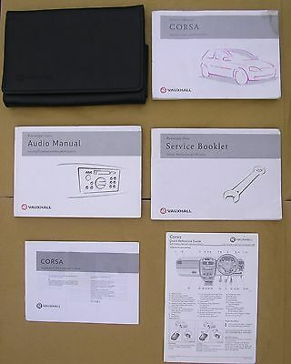 Vauxhall Corsa Handbook / Manual, Service Book & Owner's Pack in Wallet