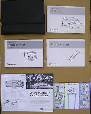 Vauxhall Meriva Handbook / Manual, Service Book & Owner's Pack in Wallet