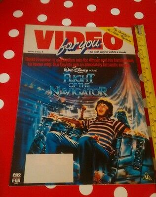 VIDEO FOR YOU 1988 VHS magazine - Flight of the navigator