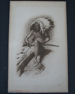 18 Postcards Native American 'Indian' mixed lot 1907 & later