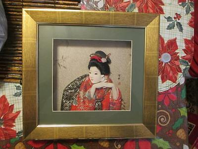 Geisha Doll 3D Shadow Box Picture Signed #2