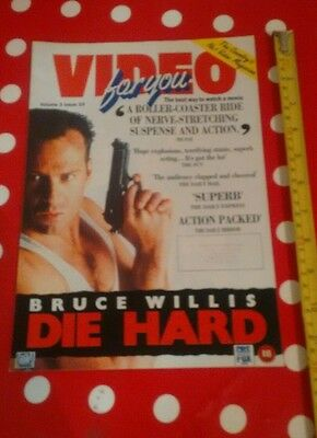 VIDEO FOR YOU 1989 VHS magazine - Die Hard