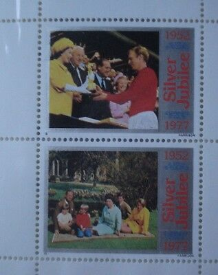2 x Total commemorative Silver Jubilee stamps (1977)