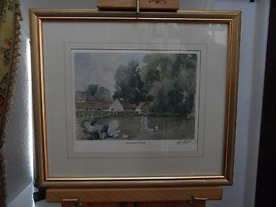 """A Framed Signed Print Entitled """"east Quantoxhead""""  In Somerset By E R Sturgeon"""