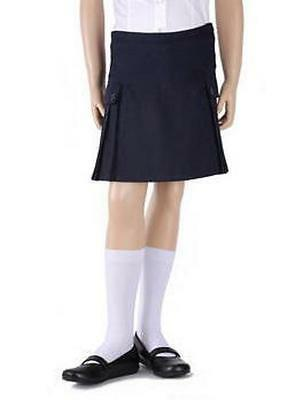 French Toast Adjustable Side Pleated Skirt Scooter School Uniform Blue 12 New