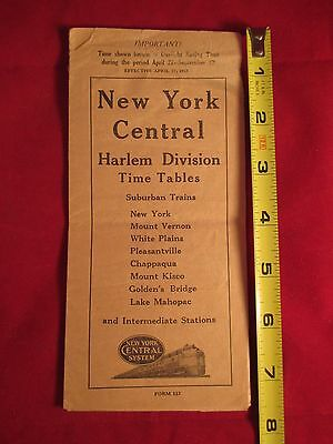 1952 New York Central Railroad Harlem Division Time Tables