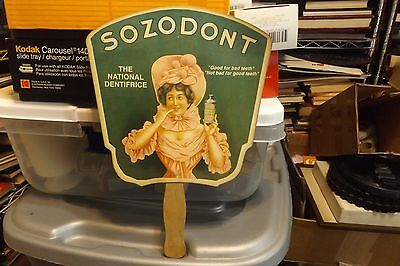 Sozodont Dentifrice Tooth Paste Advertising Fan