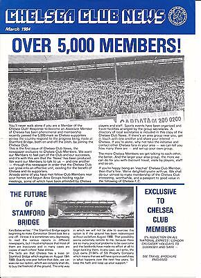 Chelsea Newsletter March 1984