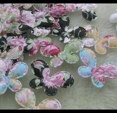 10 Butterfly 35X25Mm Appliques Craft, Sewing, Crochet, Card Making Etc...