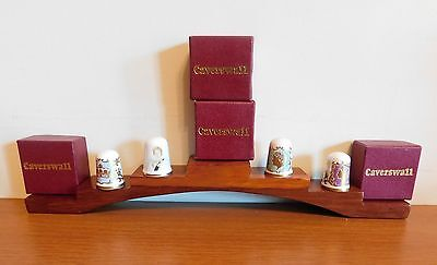 Four Caverswall Fine Bone China Thimbles.   Royalty