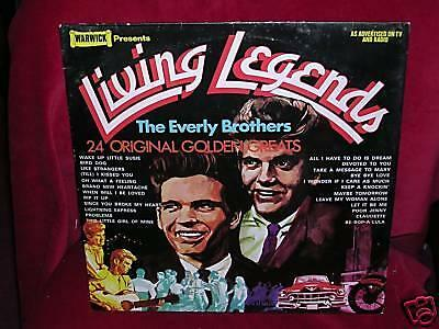 EVERLY BROTHERS - LIVING LEGENDS - Warwick WW 5027 - 1972 - EX