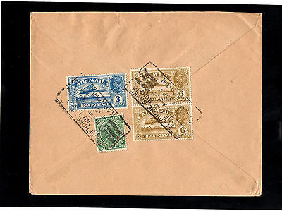 India 1935 Kg V Air Stamps On Cover To Germany With Karachi Slogan Postmarks