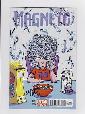 Magneto 1 Baby Variant Signed By Skottie Young W/ Coa Marvel Now Cullen Bunn