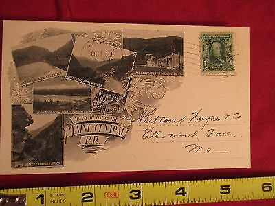 1908 Maine Central Railroad Accounting Dept Post Card Scenic Gems Along The Line