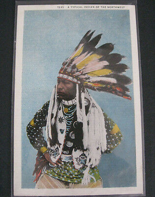 4 Postcards Native American 'Indian' Portraits 1915 or later