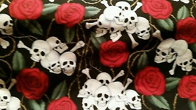 WELDING CAP MADE  (Skull and  Roses  ) FABRIC