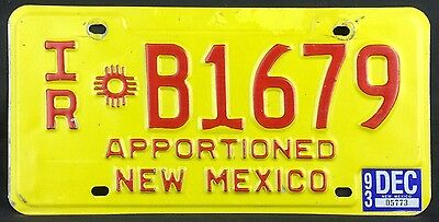 New Mexico 1992 - 1993 APPORTIONED TRUCK License Plate - First Issue!
