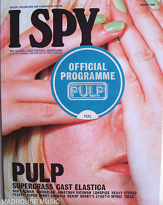 PULP Tour Programme 1996 I-SPY Chelmsford 58pg NEW ! STICKERED !