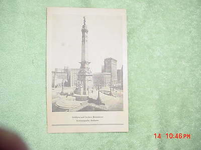 1902 Original  Card - Dedication Of Indiana's State Soldier And Sailors Monument