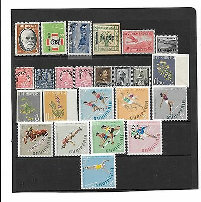 ALBANIA-Small lot of mixed stamps-low price ( 24 stamps)