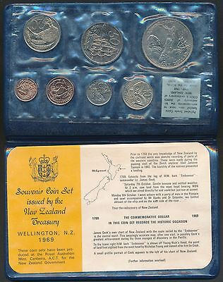 New Zealand 1969 Uncirculated 7 coin set Captain Cook