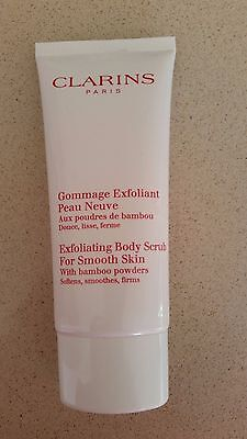 NEW Clarins exfoliating body scrub for smooth skin with bamboo powder -100ml
