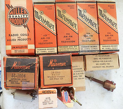 (13) NOS & Used Miller and Meissner Inductor and Tuning Transformer