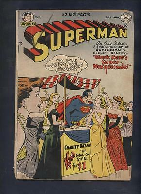 Superman 71 Dc golden age comic Kissin' cover