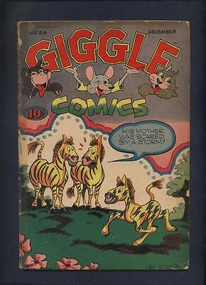 Giggle Comics 24 Golden Age funny animal  African American  Racist Story