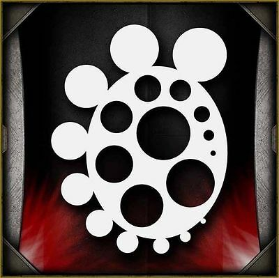Circle Freehander Airbrush Stencil Template Airsick
