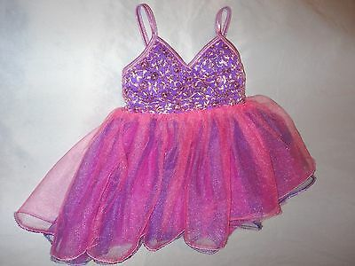 Girl's Curtain Call Costumes Darling Purple & Pink Dance Costume Size S